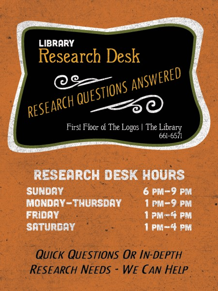 thumbnail_Research Desk Hours - Fall 2016 (SM)